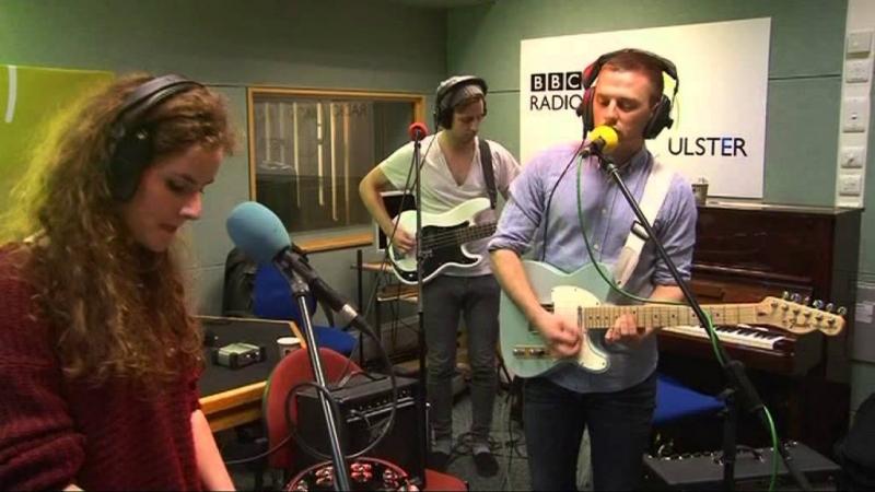Anna with Go Wolf BBC Radio Ulster studio