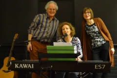 Maurice & Jane with poet Ruth Carr, Linen Hall Library Feb 2015